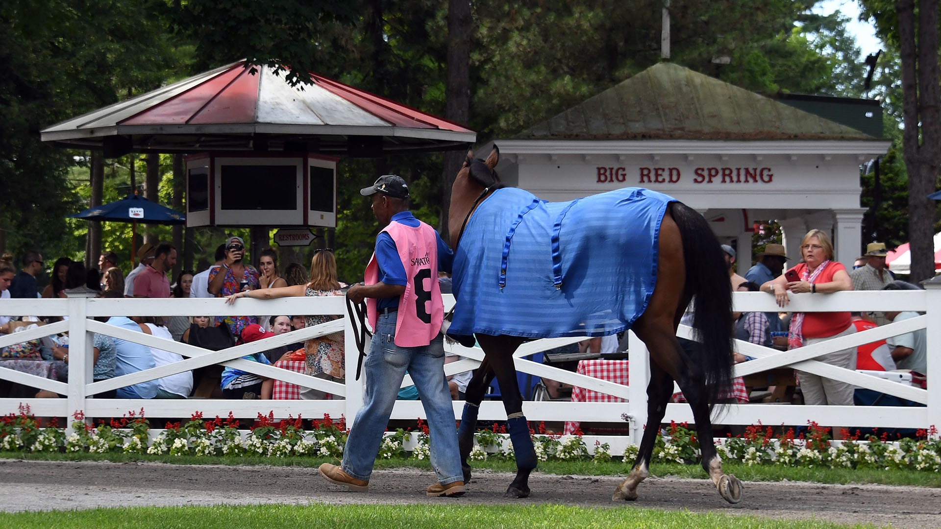Rocketry in the paddock at Saratoga Race Course