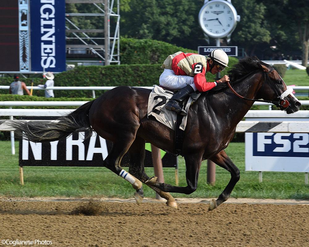 Adulator wins at Saratoga Race Course.
