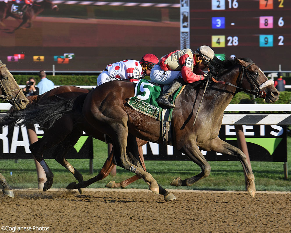 Preservationist takes the prestigious G1 Woodward at Saratoga Race Course for Centennial Farms thoroughbred racing partnership.